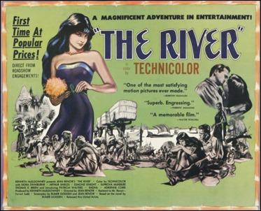 Cartel de El río, de Jean Renoir