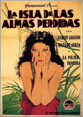 Cartel de La isla de las almas perdidas, centrado en la Mujer Pantera