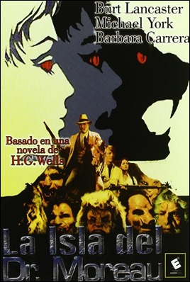 Cartel de La isla del dr Moreau, versión de 1977