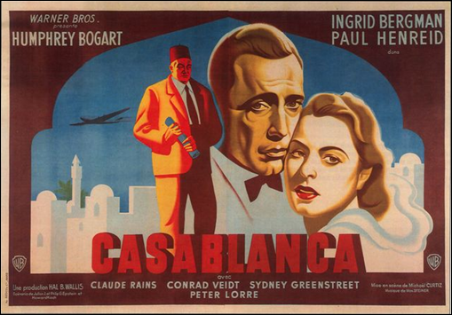 Curioso y desconocido poster de Casablanca