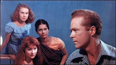 El romántico capitán John y las tres muchachas