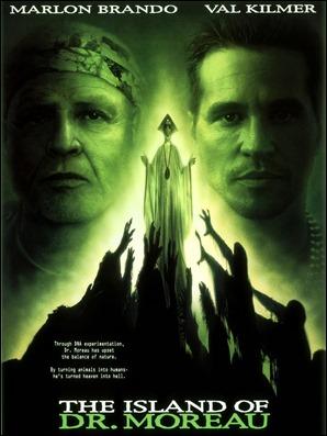 Mediocre poster de La isla del dr. Moreau, versión de 1996