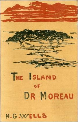 Portada de la primera edición inglesa de The Island of Dr. Moreau