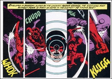 Viñeta de Frank Miller sobre el héroe que lo reveló, Daredevil