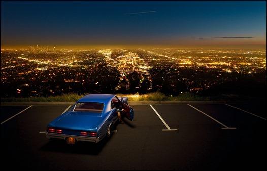 La famosa vista de Los Angeles desde Mulholland Drive