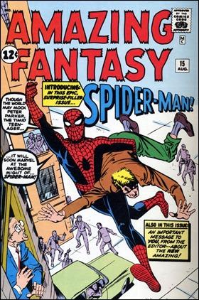 La portada de Ditko para Amazing Fantasy 15... que nunca se publicó