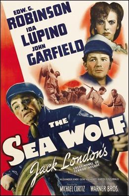 Poster americano de El lobo de mar