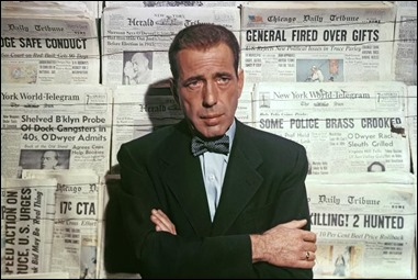 Bogart en su inolvidable papel de El cuarto poder