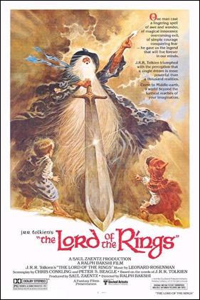 Cartel original de El Señor de los Anillos, versión 1978