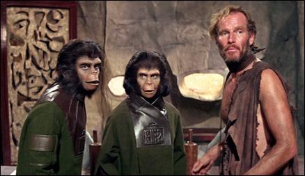 El humano Taylor, los simios Zira y Cornelius