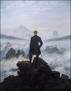 El viajero sobre el mar de niebla, por Friedrich, inmejorable metáfora de la melancolía