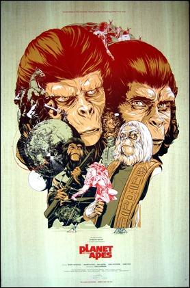 Espléndido poster renovado de El planeta de los simios