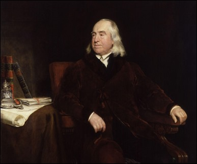 Jeremy Bentham, por Henry William Pickersgill