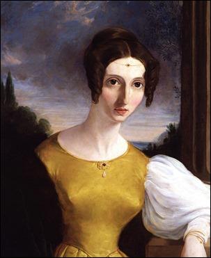Retrato de Harriet Taylor por autor desconocido, en la Galería Nacional de Retratos