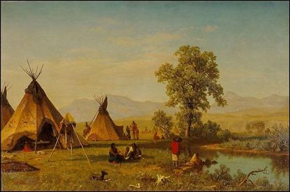 Campamento lakota, por Albert Bierstadt