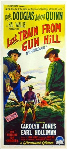 Cartel original de El último tren de Gun Hill