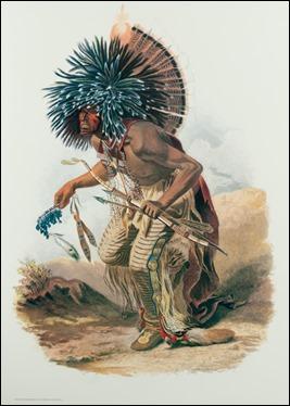 El jefe indio Pehriska-Ruhpa, por Karl Bodmer