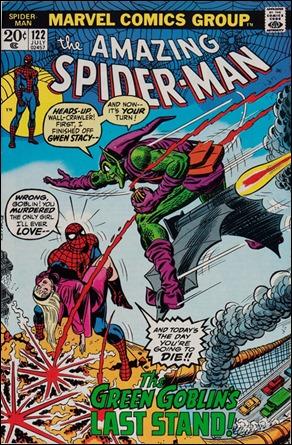 La portada del 122 de Amazing Spiderman, con Gwen muerta y Spidey jurando venganza