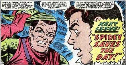 La famosa viñeta del 39 de Amazing Spider-Man en que el Duende Verde revela que es Norman Osborn