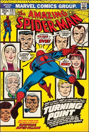 La mítica portada de The Amazing Spider-Man 121 en que se anuncia una muerte
