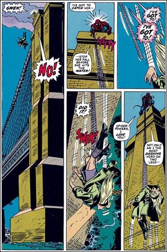 La página del Amazing Spider-Man 121 donde muere Gwen