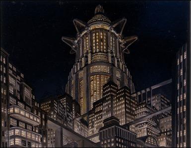 Boceto de Erich Kettelhut para Metrópolis