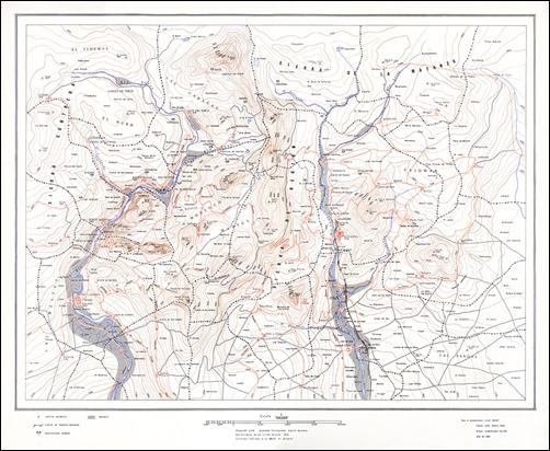 El mapa de Región que Juan Benet incluyó en Herrumbrosas lanzas