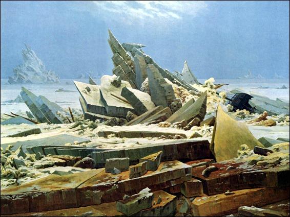 El mar de hielo, por Caspar David Friedrich