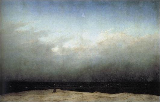 El monje a la orilla del mar, por Caspar David Friedrich