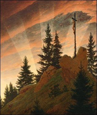 La cruz en la montaña, de Caspar David Friedrich