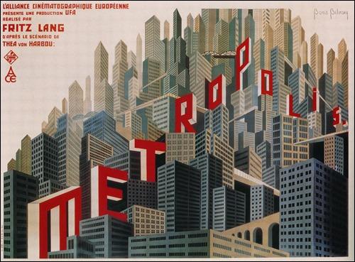 Maravilloso poster de Boris Bilinsky para la película Metrópolis