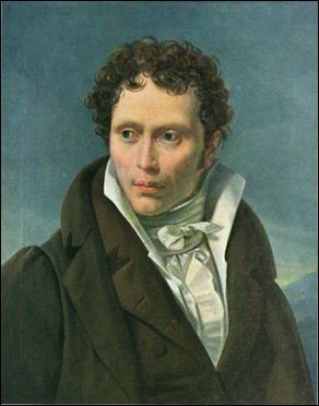 El joven Schopenhauer, por Ludwig Sigismund Ruhl