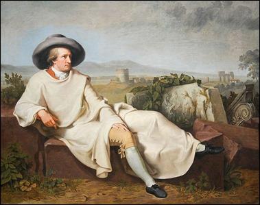 Goethe en Italia, por Tischbein