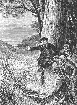 Ilustración del francés Roux para La isla del tesoro