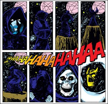 La muerte cobrándose una nueva víctima, el mismo Thanos