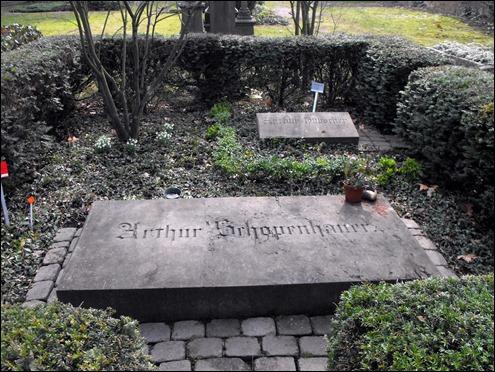 La tumba de Schopenhauer en el cementerio de Francfort