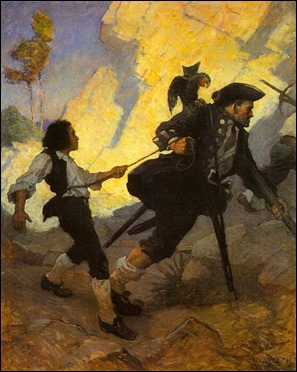 Long John Silver, por N. C. Wyeth