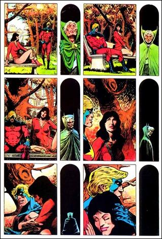 Maravillosa página muda de La muerte del Capitán Marvel