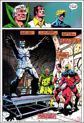 Página de La muerte del capitán Marvel