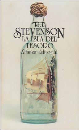 Portada de La isla del tesoro en la entrañable versión de Daniel Gil para Alianza Bolsillo