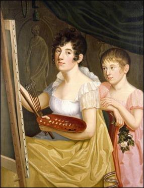 Retrato de Johanna y Adele Schopenhauer, por Caroline Bardua