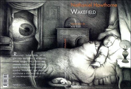 Buen dibujo para la portada de la reciente edición de Wakefield, en Nórdica
