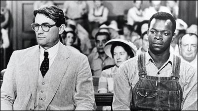 El abogado Atticus Finch y el acusado Tom Robinson