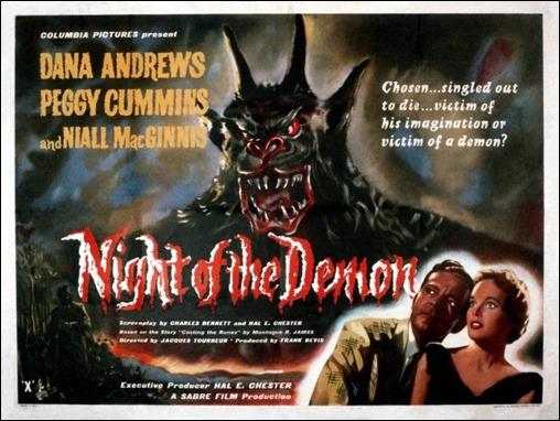 Estupendo cartel original de La noche del demonio