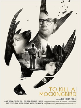 Excelente poster americano de Matar a un ruiseñor