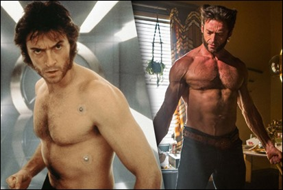 La evolución muscular de Hugh Jackman en X-Men