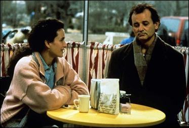 La pareja protagonista de Atrapado en el tiempo, Bill Murray y Andie MacDowell