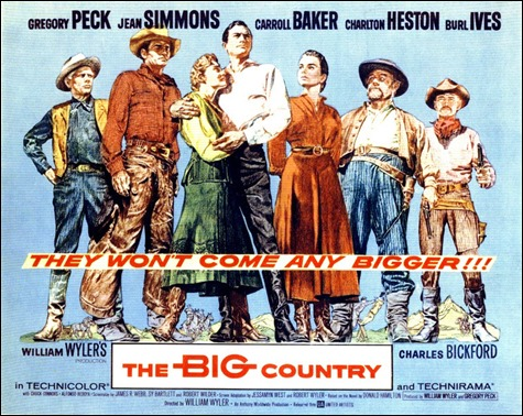 Cartel original de Horizontes de grandeza-The Big Country