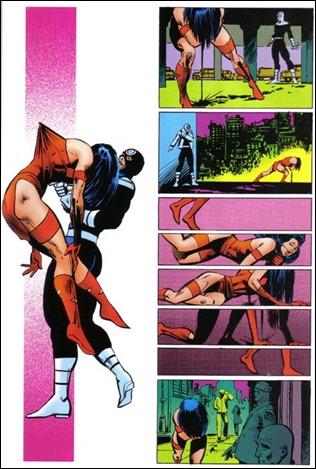 El impactante ensartamiento de Elektra a manos de Bullseye