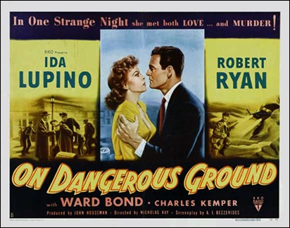 Póster original de On Dangerous Ground
